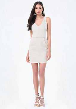bebe Textured Pocket Dress