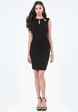 bebe Crisscross Waist Dress