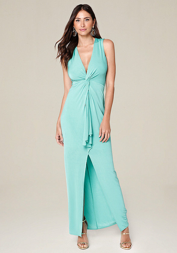 Slinky Twist Front Gown