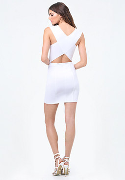 bebe Ponte Crossback Dress