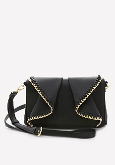 Chain Ruffle Crossbody Bag