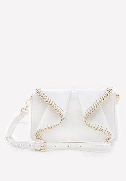 bebe Chain Ruffle Crossbody Bag