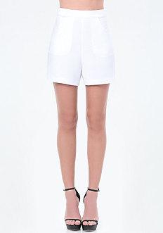 Crepe Back Tie Shorts