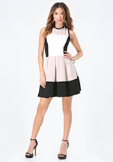bebe Tanya Pleated Dress