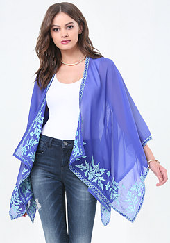 bebe Embroidered Cover Up