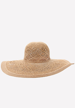 bebe Diamond Weave Floppy Hat