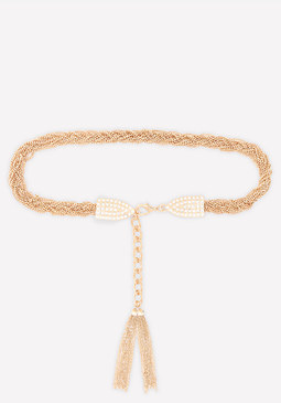 bebe Braided Chain Belt