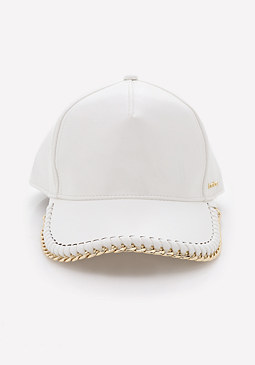 bebe Logo Chain Trim Ball Cap