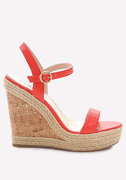 bebe Clairee Cork Wedges