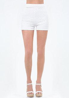 Eyelet High Waist Shorts