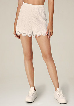 bebe Scallop Lace Shorts