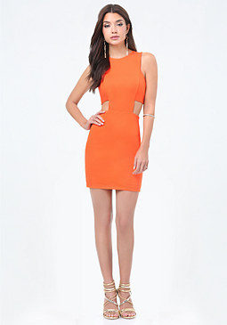 bebe Cutout Bandeau Dress