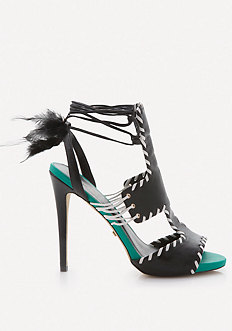 Nika Feather Wrap Sandals