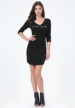bebe Logo Henley Dress