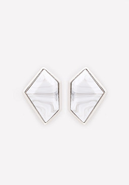 bebe Marbelized Stone Earrings