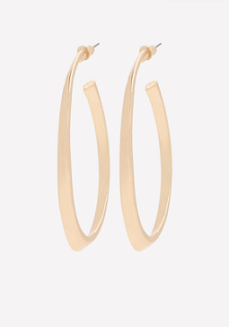bebe Oval Open Hoop Earrings