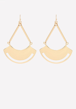 bebe Half Moon Earrings