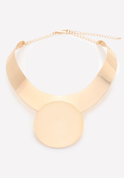 bebe Circle Collar Necklace