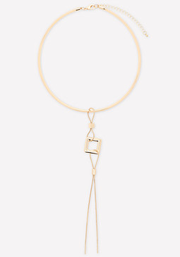 bebe Lariat Collar Necklace