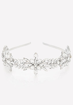 bebe Crystal Flower Headband