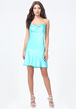 bebe Silk Charmeuse Slip Dress