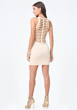 bebe Brigit Braid Back Dress