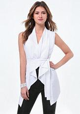 bebe Belted Flowy Vest