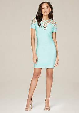 bebe Emily Lattice Dress