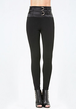 bebe 2-Strap High Waist Leggings