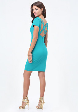 bebe Strappy Back Dress