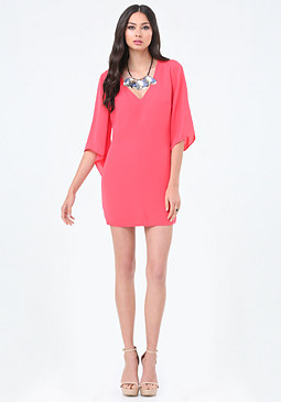 bebe Flare Sleeve Shift Dress