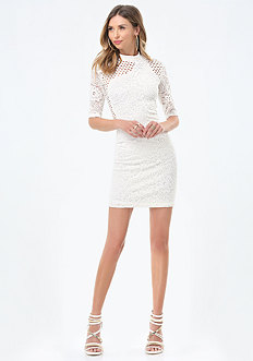 Lucie Mix Lace Dress