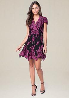 Valorie Lace Godet Dress