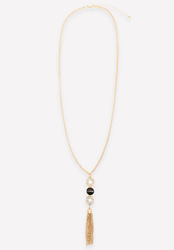 bebe Logo 3-Drop Y Necklace