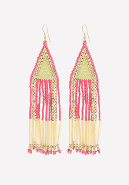 bebe Seed Bead Fringe Earrings