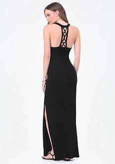 Logo Cage Strap Maxi Dress