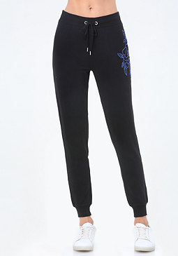 bebe Logo Graphic Jogger Pants