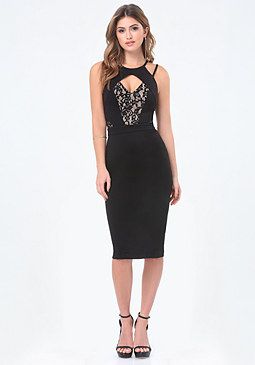 bebe Petite Double Strap Dress