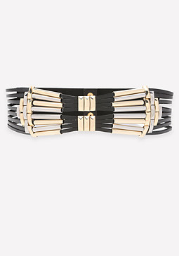 bebe Metal Multi-Strap Belt