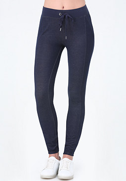 bebe Petite Denim Terry Leggings
