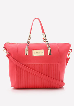 bebe Linear Quilted Tote