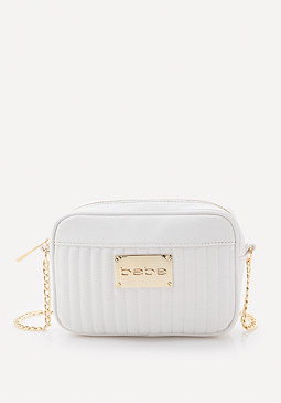 bebe Quilted Crossbody Bag