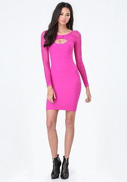 bebe Brittany Bow Neck Dress