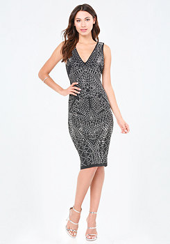 bebe Studded Power Knit Dress