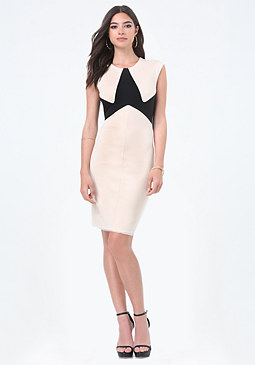 bebe Cassie Colorblock Dress