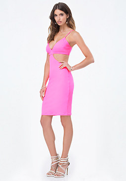 bebe Triangle Cutout Dress