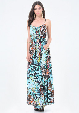 bebe Petite Carrie Maxi Dress