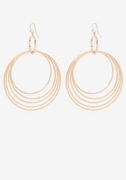 bebe Glitter Circle Earrings