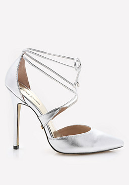 bebe Lynna Metallic Pointy Pumps