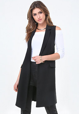 bebe Sleeveless Long Coat